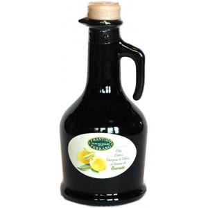 Olio Extra Vergine Aromatizzato ai Limoni del nostro Giardino  Anfora